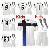 Men21-22 Kids Finland Soccer Youth Pukki Jersey Socks Set Pohjanpalo Lod Soiri Toivio Arajuuri Sparv Schuller Kamara Raitala Ojala Litanan