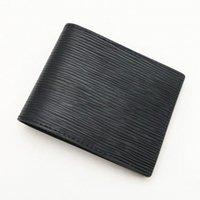 Luxusdesigner Männer Geldbörsen mit Box Fashion Classic Kartenhalter Gestreifte Textur Brieftasche 8 Arten Bi-Fold Männer Kurzes kleines PRUSE BANKNOTE PACK W60223