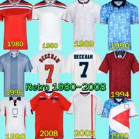Retro England Soccer Jersey 1990 Blackout Mash Up Rooney Lampard Beckham Owen Vintage 1980 1982 1992 1994 1996 1998 2002 2002 2002 2002 2002 Scholes Sharer Kits كرة القدم قميص