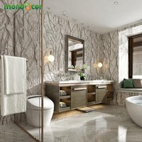 Wallpapers Retro Self Adhesive PVC Floor Wallpaper Fashion Marble Pattern Bathroom Stickers DIY Bedroom Ground Mural Room Decor Film