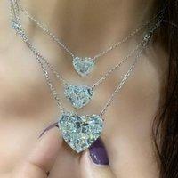 Heart love Moissanite 925 sterling silver Dangle Earring Jewelry Lab Dimaond Party Wedding Drop Earrings for Women Bridal Gift