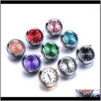 Bracelets de charme bijoux 18mm montre en verre de verre interchangeable bijoux peut déplacer les boutons de boutons de boutons-pression remplaçables Fit bouton Bouton Bracelet Bijoux1 goutte