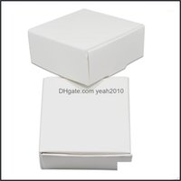Gift Event Festive Supplies Home & Gardengift Wrap 350Pcs/Lot White Wedding Box Party Diy Craft Candy Handmade Soap Package Boxes Blank Kraf