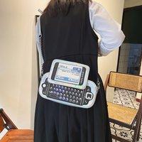 Handbag fashion creativity spoof fun simulation full keyboard telephone mobile phone laser Pu messenger bag female