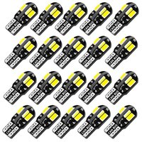 Emergency Lights 20PCS W5W T10 LED Bulbs Canbus 5730 8SMD 12V 6000K 194 168 Car Interior Map Dome Parking Light Auto Signal Lamp