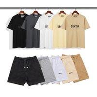 Designer Hommes Essentials Courts Tracksuits De Luxe Femmes Femmes T-shirt et Short Pantalon d'été Jogger Costumes Imprimer la peur de Dieu Coton Sportswear Male Vêtements