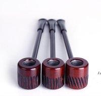 Un godet de filtre de tuyau de tuyau à rayures en bois de bois de santal rouge sculpté à la main avec le tabagisme DWB5872