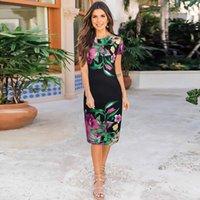 VANOVICH European Fashion Women Dress Temperament Spring and Summer Plus Size Short Sleeve Print Clothing 210615