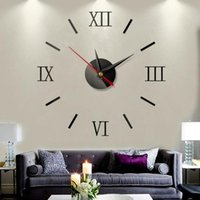 Modern Design DIY Interior Roman Wall Clock 3D Mirror Stickers Farmhouse Decor Kitchen Vintage High Quality Clocks