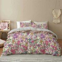 Foglie verdi Biancheria da letto Set 3D Pianta tropicale Twin Duvet Cover Flowers Home Textile 2 / 3PC Set di consolatore da camera da letto di lusso