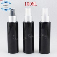 100ML Black Plastic Bottle With Silver Spray Pump , 100CC Toner   Makeup Water Sub-bottling Empty Cosmetic Containergood qty