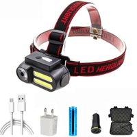 LED-Scheinwerfer XP-G Q5 COB-Scheinwerfer Verwenden Sie wiederaufladbare 18650 Batteriekopflampe Fackel für das Angeln Camping Wanderlicht Scheinwerfer