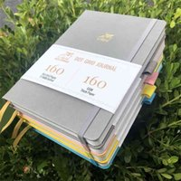 Buke 5x5mm Journal Dot Gird Gird Portátil 160 páginas, tamaño 5.7x8.2 pulgadas, 160GSM Papel de bambú ultra espeso de 160 gsm DIY BUJO PLANIFORIO 210611