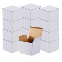 WACO 50パック段ボール段ボールクラフトボックス、パーティー用品、カップケーキコンテナ、結婚式、梱包、移動、スモール6 x 4 Inホワイト