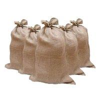 Storage Bags 5pcs High Quality Filling Deluge Control Protect Stable Disaster Jute Sandbag Durable Burlap Hessia