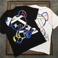 Marcelo Barrett erkek kısa kollu karikatür ayı t-shirt kadın t shirt bağladı | Streetwear 2191001657