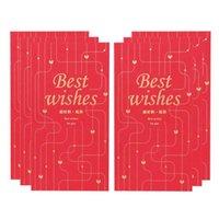 Envoltura de regalo 2021 Sobres rojos bolsa de sobre boda de la boda del año del año de la primavera del año del año Paquete de festival de primavera 6pcs 22