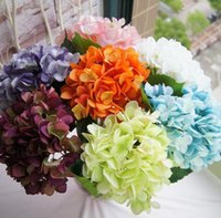 Artificial Hydrangea Flower 47cm Fake Silk Single Real Touch Hydrangeas for Wedding Centerpieces Home Party Decorative Flowers