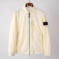 Été Chaopai Windbreak et crème solaire Vestes pour hommes Couleur unie Diagonal Zipper Couple Couple Jacket Simplicity Light Coat