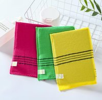 Korean double-faced towel Sponges exfoliating bath towels body baths scrub portable shower for grown-ups thick OWA5566
