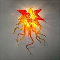 100% bouche soufflé lampes LED ampoules assiettes lampes lampes d'art de fleur de fleur chacun de l'éclairage intérieur