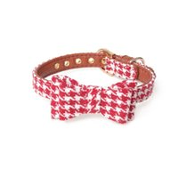 British Plaid Bow Cute Collar Pet Traction Rope Cat Dog Triangle Scarf Christmas Collars & Leashes
