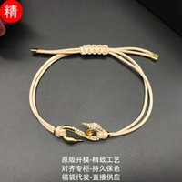 necklaces Shi Family S-shaped swan neck Bracelet adopts Swarovski Elements, elegant wind and adjustable knitting girl's hand rope