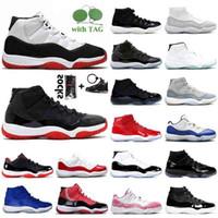 Hotsales 11s Erkek Basketbol Ayakkabıları Balo Gece Concord Numarası 45 Kırmızı 11 Bred Kadınlar Traiers 25th Yıldönümü Kap ve Elbise Gama Mavi Spor Erkekler Sneakers