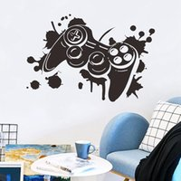 Wall Stickers Carved Gamer Sticker Game Room For Kids Decoration Murals Boys Bedroom Decor Gaming Poster Wallpaper