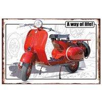 Vintage Moto Métal Plaque d'étain Plaque Retro Signes Plaque Home Mural Décor Poster (N-3)