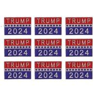 Trump 2024 Presidential Election Brooch Party Supplies U.S. Patriotic Republican Campaign Metal Pin Badge OWD10052