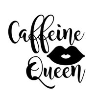 16*15.4cm Caffine Queen With Lips Car Stickers Fashion Personality car stickers to cover scratches New Style Hot