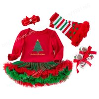 Girl's Dresses First Birthday Party Princess Girl Long Sleeve Girls Outfits Baby 1st 2nd Christmas Year Dress With Headband