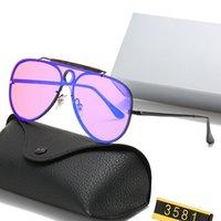 2021 Fashion 3581 Blaze shooter estilo piloto óculos de sol com capuz vintage fresco marca design sol óculos retrô sunglass