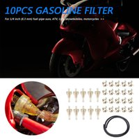 Inline Gas Filter + 1m Fuel Line 20x Hose Clamps Outdoor 1 4 Motorcycle ATV Personal Accessories Parts