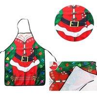 Christmas Apron Sexy Santa Clause Apron Polyester Kitchen Apron Merry Christmas Party Supplies Xmas Decor RRD8587