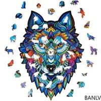 Banlv животных головоломки линии намотарь Voger головоломка 3d деревянная головоломка в форме мандалы животных интернет знаменитость праздник подарок gif