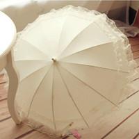 Sonnenschirme Lange Griff Regenschirm Frauen Tragbare Stoff Hohe Qualität Sonnenschirm Sun Outdoor Guarda Chuva Home Produkte DF50ys