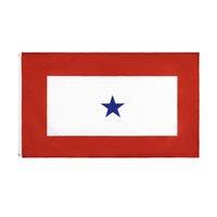 Familienmitglied Militär Service Banner 1 Blue Star Flag EOR Dekoration Großhandel Hohe Qualität 90 * 150 cm 3 * 5FTs Bereit zum Versandvorrat 100% Polyester