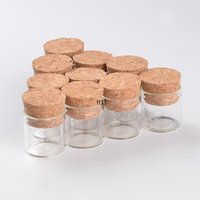10ML Small Test Tube With Cork Stopper Glass Spice Bottle Container Jar 24*40mm DIY Craft Transparent Glass Bottle Drifting Bottle EWF5879