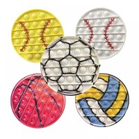 Dhl fidget brinquedos beiseball empurrar bolha bola jogo futebol basquete taça do mundo jouet anti stress esfant silicone