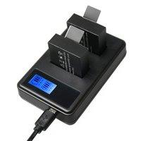 충전기 SJCAM SJ7000 SJ6000 SJ5000 SJ4000 배터리 LCD 화면 이중 배터리 충전기가 충전 용량을 표시합니다.