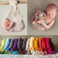 Newborn Photography Photo Props Christmas Algodón Lino Mantas Swaddling Baby Girl Posando Swaddle Decor Wrap Manta 29.5 * 71 pulgadas