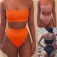 Sexy Bikini Women Bandage Set Push-up Padded Bra 2 Pieces Swimsuits Bathing Lady Swimwear Gym suit yoga Sportwear