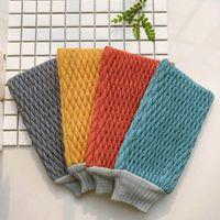 Exfoliating Bath Towel for Shower Scrub Bathroom Accessories Bathing Gloves Viscose Fiber Wholesale Fast Shipping NHF6858