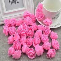 Fiori decorativi Corone 100pcs fiore artificiale PE schiuma rose testa falsa decorazione di nozze fatte a mano per scrapbooking scatola regalo fai da te wrea