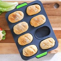 Пресс-формы для выпечки Мини-багетный поднос. Силиконовые силиконовые французские хлеб сковороды
