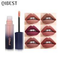 Lip Gloss QI Matte Lips Makeup Moisturizer 12 Colors Lipstick Long Lasting Liquid Tint Cosmetics Lipgloss