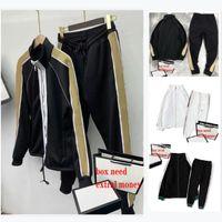 Fashion Sportswear Stylist Homme Tracksuits Classic Zipper Cardigan Cardigan Sweat à capuche + Pantalon de sport simple Casual Femme Costume 2 Taille de haute qualité M-2XL