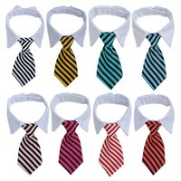 VIP Customization Mixed Batch Order Pet Tie Collars Striped Cute Colors Dog Cat Necktie Clothes Decoration Pets Harness Supplies Suit Small Large Puppy